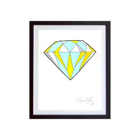 Diamond Jason Oliva SMall work on paper