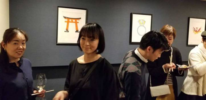 Art on display and available for purchase during the Jason Oliva Japan Art and Wine 2019