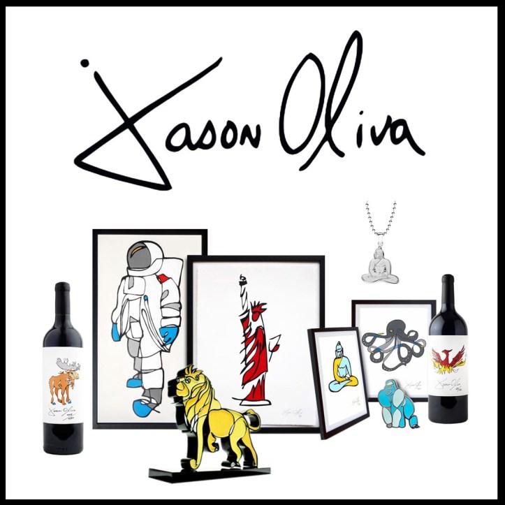 Jason Oliva Wine, Art, sculpture, Shirts, Jewelry, cards,and pins
