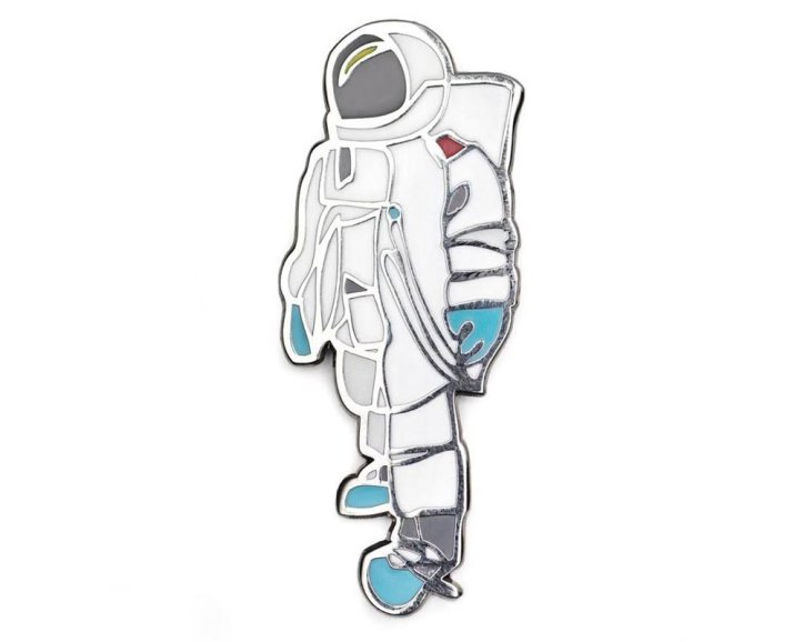 Astronaut enamel lapel pin Jason Oliva
