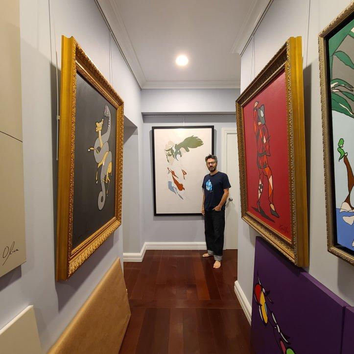 Artist Jason Oliva NYC home studio and Gallery 2020
