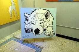 Dog portrait Lumi 2014 by Jason Oliva in his studio