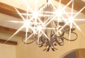 Lights with starburst filter