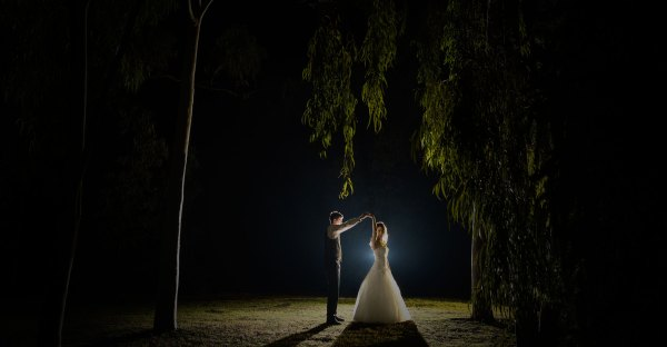 Bridal Photography dancing under moonlight