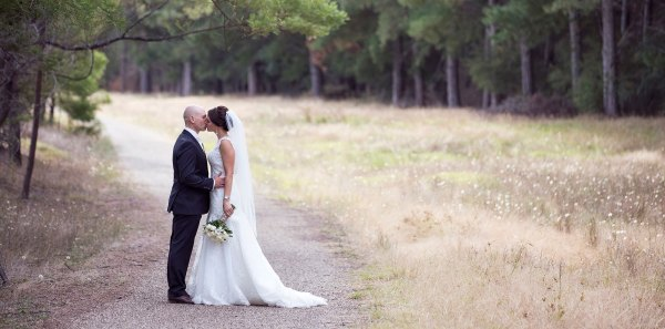 Wedding Photography showing Bride and Groom near Boynton's Feathertop Winery in Bright Victoria