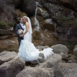 Bride and Groom at Ladies Bath Falls near Bright Victoria