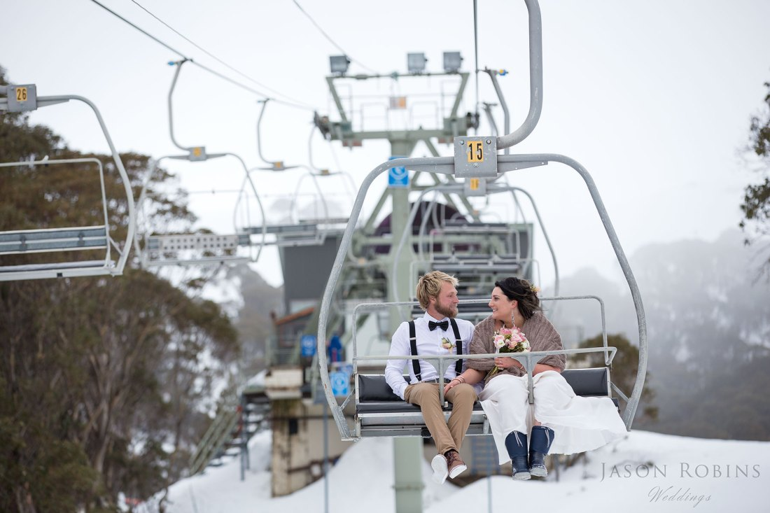 Winter Wedding Photography Falls Creek