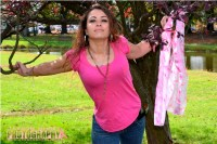 "Nicole ""Pretty in Pink"" series for Breast Cancer Awareness"