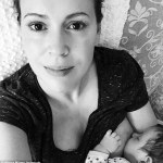 Alyssa Milano Breastfeeding Selfie