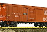 AristoCraft G Scale D&RGW Wood Box Car NEW 86001