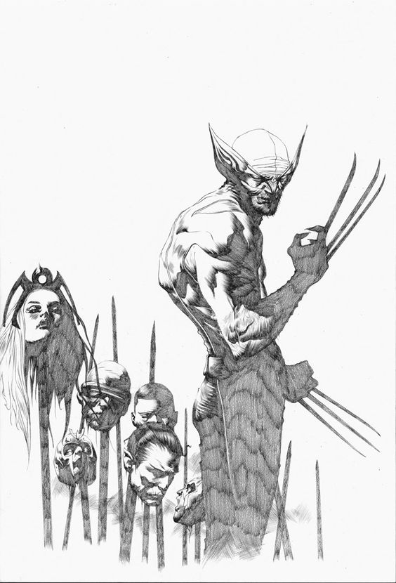 Jae Lee pencil art