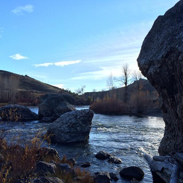 I kinda miss the simplicity of Salmon Idaho.  #idaho #river #rocks #sky #water #salmonriver 2