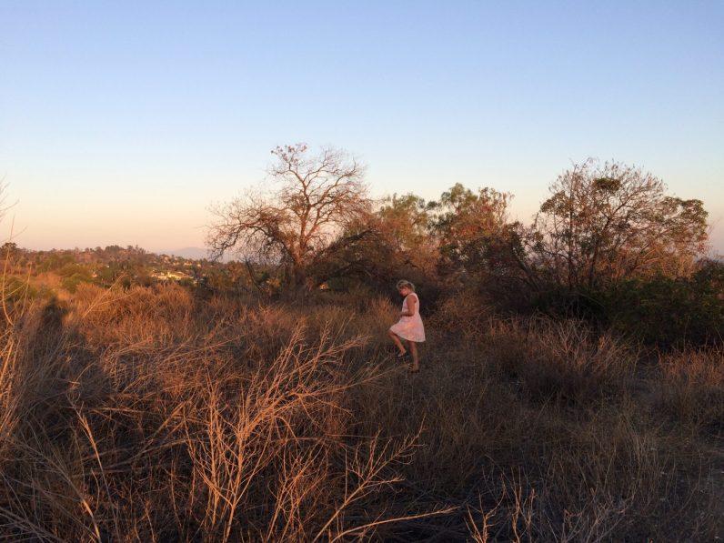 Jess exploring the area