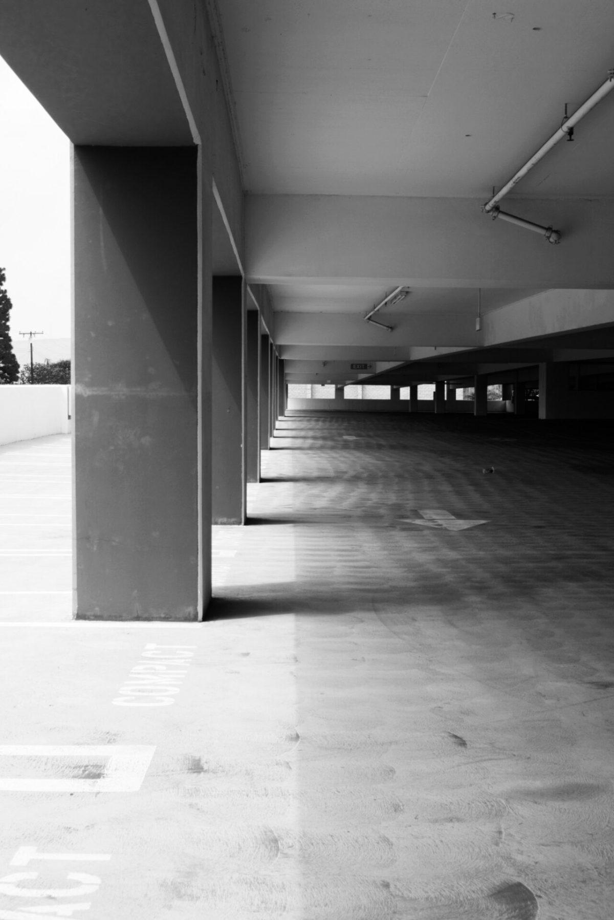 Parking structure photos at EvFree Fullerton 1