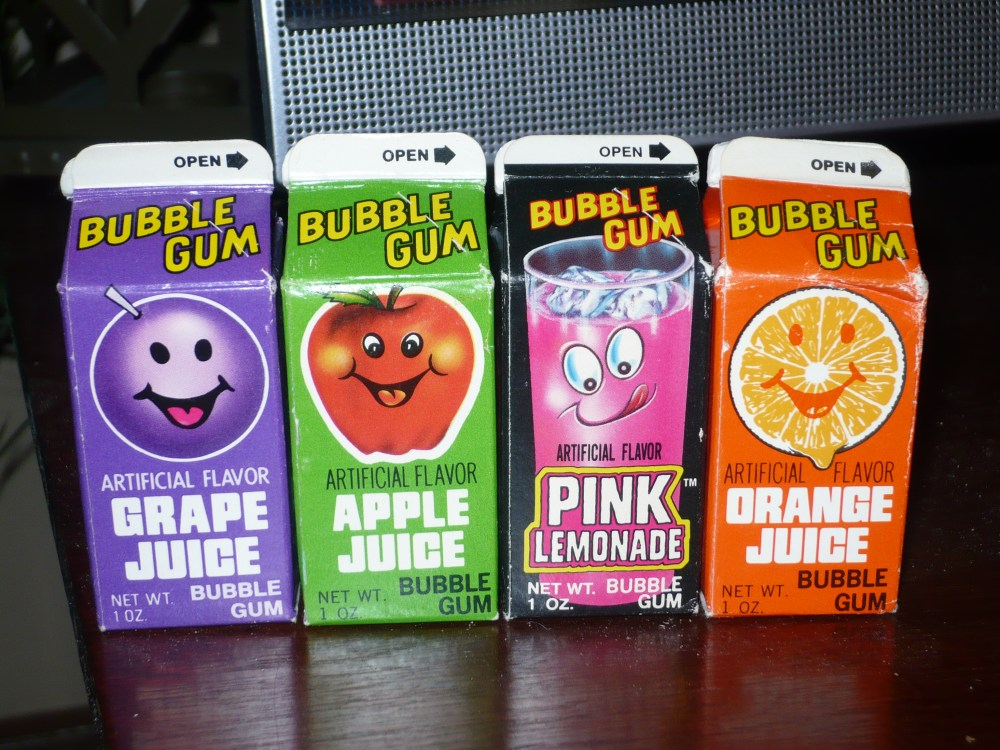 Topps Juice Gum Cartons from 1982-1985
