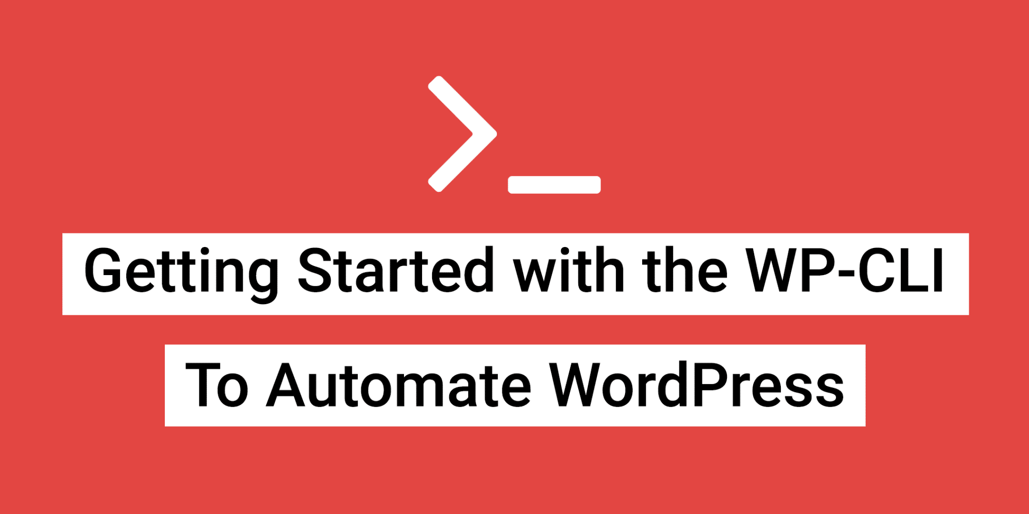 Getting Started with the WP-CLI
