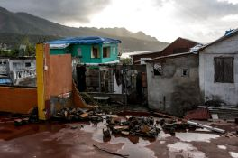 A destroyed house in Grand Bay Dominica, on Tuesday, May 10 2018. Photographer: Alejandro Cegarra/Bloomberg