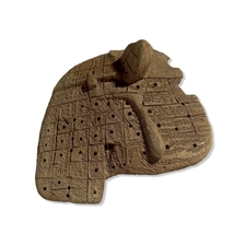 Clay model of a sheep's liver, Babylonian, ca. 1900-1600 B.C., probably from Sippar in what is today Southern Iraq. From the collections of the British Museum.