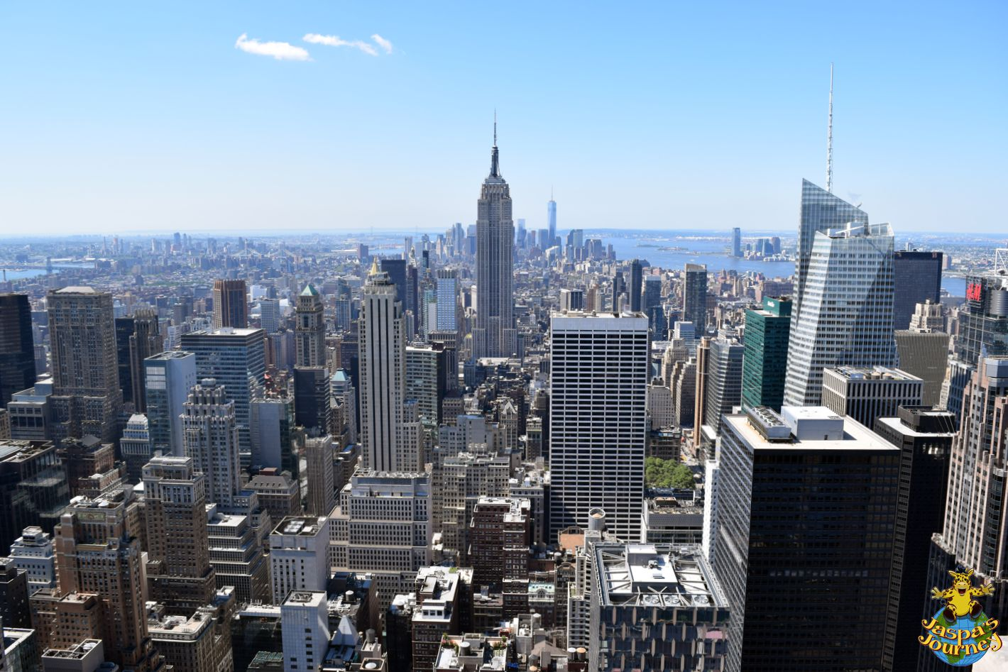 Bird S Eye View From The Top Of The Rock Nyc