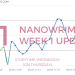 NaNoWriMo Week 1 Update 2019 Blog Header Storytime Wednesday - !NaNoWriMo Writing In Progress!