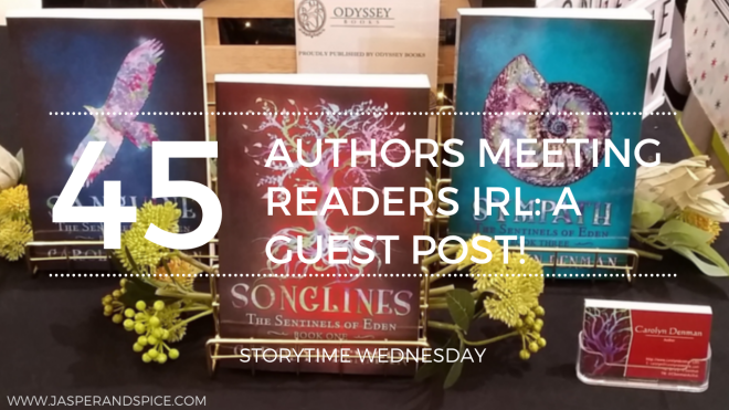 Authors Meeting Readers In Person IRL  A Guest Post From Author Carolyn Denman 2019 Blog Header Storytime Wednesday - Meeting Readers IRL: A Guest Post From An Author's Perspective (SW#45)