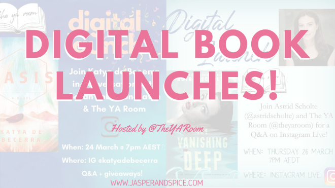 Digital Book Launches Hosted by TheYARoom On Instagram Live - Online Book Launches Happening NEXT WEEK on Instagram Live!