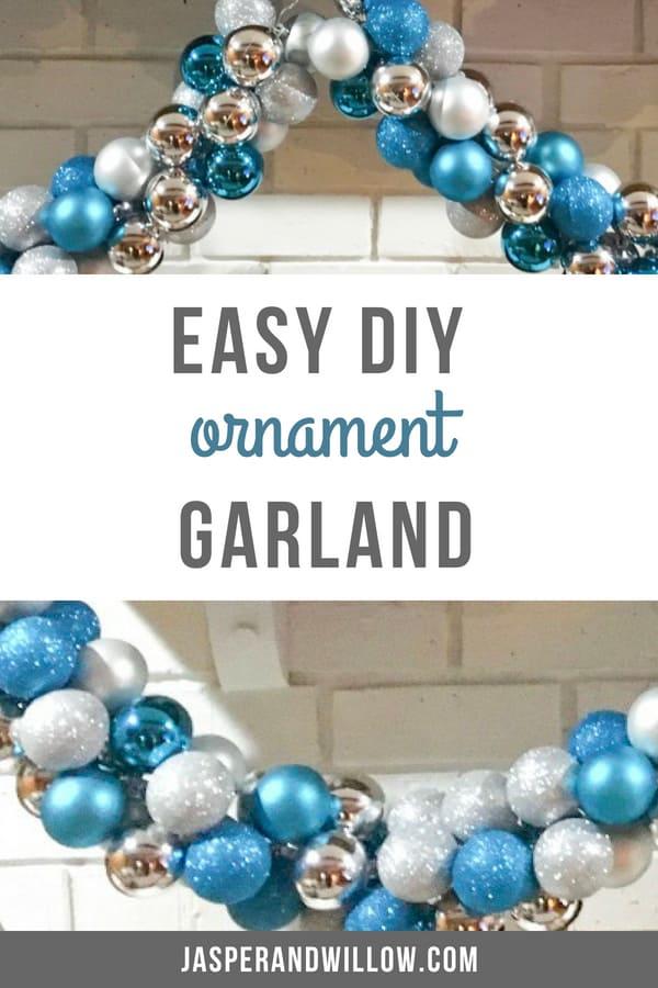 easy diy ornament garland