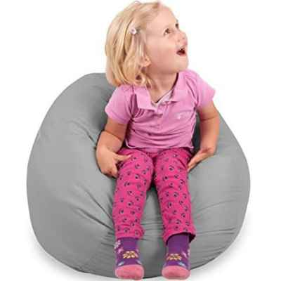 The Best Playroom Decor Finds On Amazon - girl sitting on beanbag