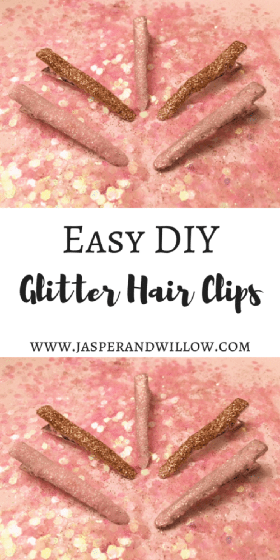 Easy DIY Glitter Hair Clips - Full Tutorial