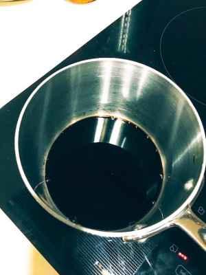 balsamic vinegar on stove