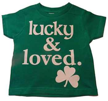St Patrick's Day Fashion For The Whole Family Lucky and Loved Tee