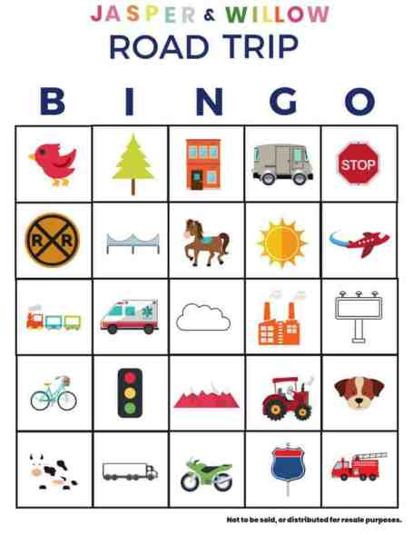 How To Survive A Road Trip With Kids - Free Printable Road Trip Bingo Game For Kids