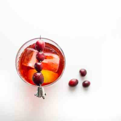 cranberry cocktails for holiday party - cranberry negroni