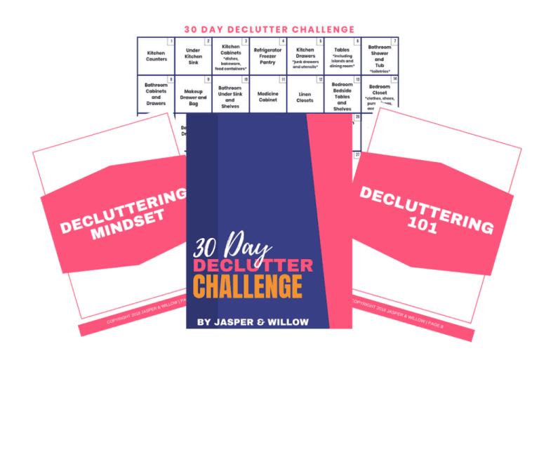 30 day declutter challenge calendar pdf
