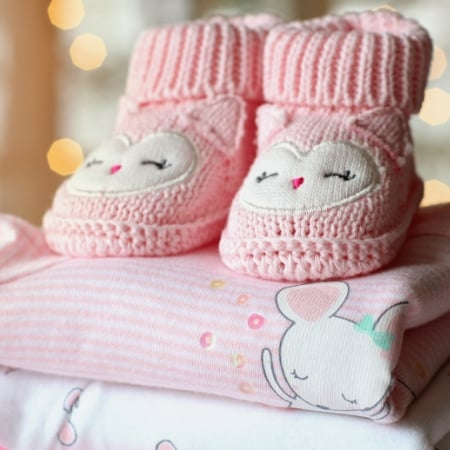 declutter sentimental baby items like baby booties and blankets