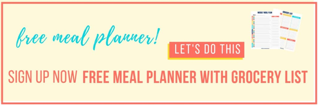 free meal planner with grocery list