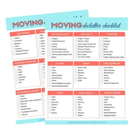 photo about Moving Checklist Printable referred to as 150 Solutions Toward Declutter Ahead of Shifting - Cost-free List