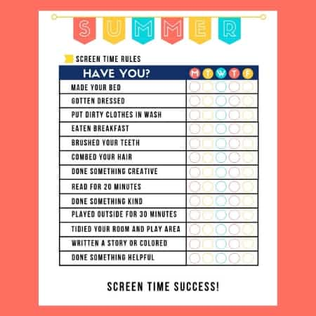 graphic relating to Screen Time Rules Printable identify Summer season Guidelines Record Template - No Display Year Until eventually Printable