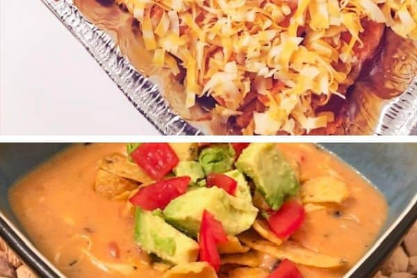 gluten free freezer meals with enchiladas and soup