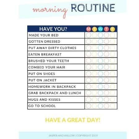 kids morning routine