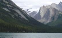 Jasper National Park Maligne Lake Mountain Scene
