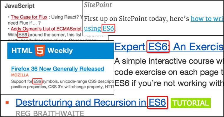 ES6 Newsletters