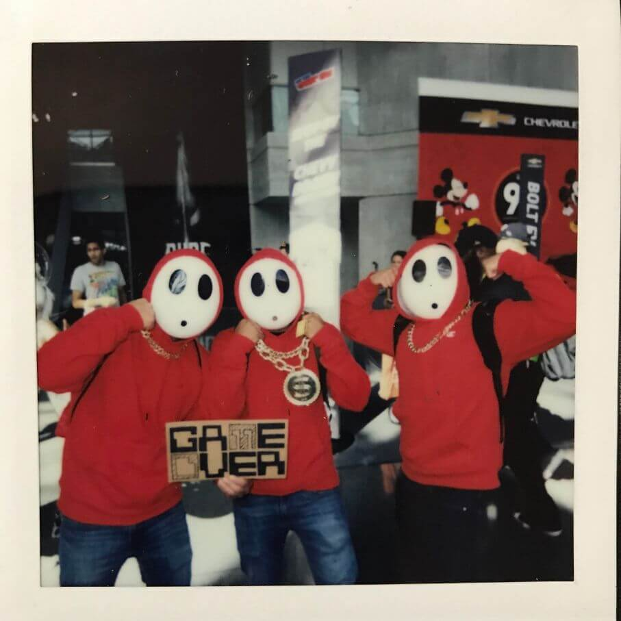 shy guys 2018 cosplay at comic con