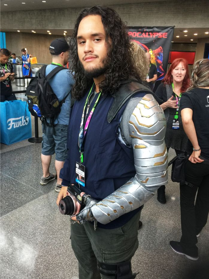 winter soldier cosplay at 2018 comic con