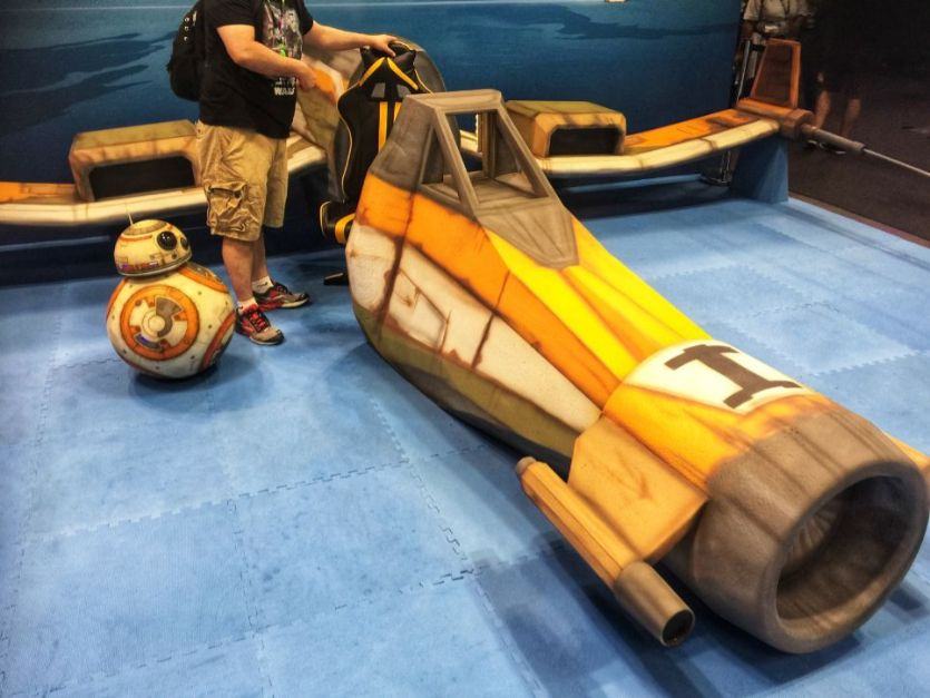 wooden x-wing at comic con 2018 nyc