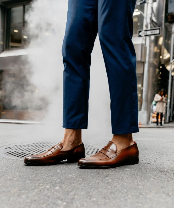 wolf and shepherd brown dress shoes on jasper yao