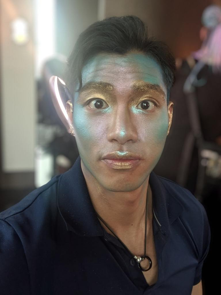 merman jasper yao portrait half makeup
