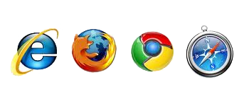 Internet Explorer, Chrome and Firefox support