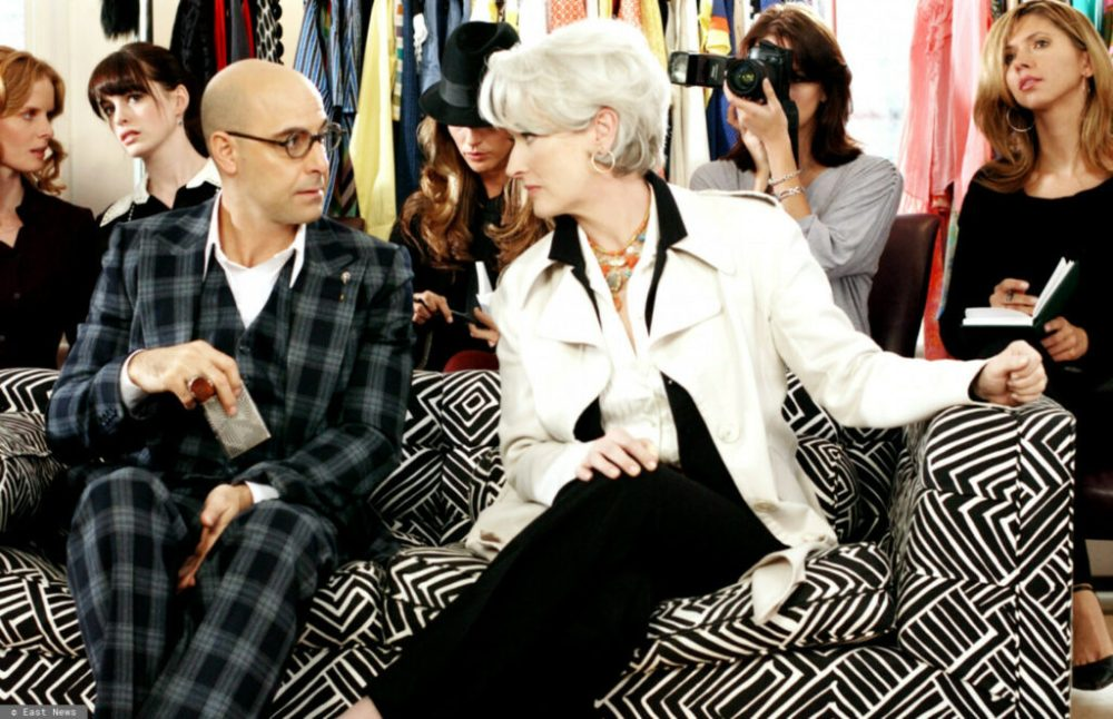 Stanley Tucci and Meryl Streep in the movie