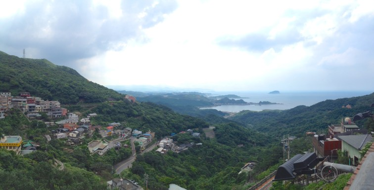 This is the view from one of Jiufen's view decks